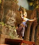 Ballerino di Apsara Immagini Stock Libere da Diritti