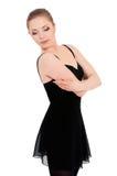 Ballerino di balletto della ballerina della donna Immagine Stock