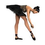Ballerino di balletto femminile su bianco Fotografia Stock