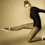 Ballerino di balletto grazioso della donna Fotografie Stock