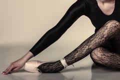 Ballerino di balletto grazioso della donna Immagine Stock