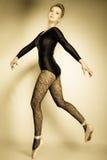 Ballerino di balletto grazioso della donna integrale fotografia stock libera da diritti
