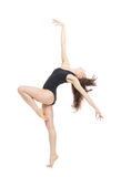 Ballerino di balletto moderno della donna di stile contemporaneo Fotografia Stock Libera da Diritti