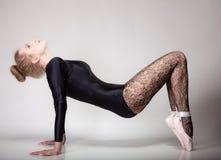 Ballerino di balletto moderno della donna di stile integrale Fotografie Stock Libere da Diritti