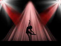 Ballerino di balletto sulla fase Illustrazione Vettoriale