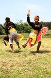 Ballerino di Jathilan Fotografia Stock