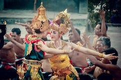 Ballerino di Kecak al uluwatu Bali Immagini Stock Libere da Diritti