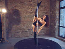 Ballerino di Palo Fotografie Stock