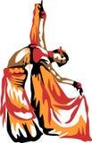 Ballerino di pancia illustrazione vettoriale