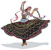 Ballerino di Rajasthani illustrazione di stock