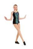 Ballerino di rubinetto felice del Preteen Posing Fotografia Stock Libera da Diritti