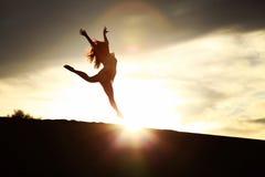 Ballerino di Sun Fotografie Stock