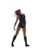 Ballerino espressivo della donna Siluetta di dancing Immagini Stock