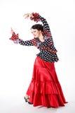 Ballerino femminile e spagnolo di flamenco Fotografia Stock Libera da Diritti