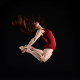 Ballerino femminile Leaping Immagini Stock