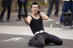 Ballerino giapponese rockabilly Immagini Stock