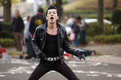 Ballerino giapponese rockabilly Fotografie Stock