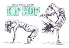 Ballerino hip-hop Immagini Stock