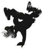 Ballerino hip-hop Bambino alla moda Illustrazione Immagini Stock Libere da Diritti