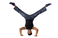 Ballerino hip-hop Breakdancing Fotografia Stock Libera da Diritti