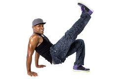 Ballerino hip-hop Breakdancing Fotografie Stock Libere da Diritti