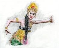 Ballerino indonesiano fotografia stock libera da diritti