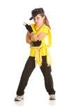 Ballerino: La ragazza si è vestita in costume hip-hop di ballo Immagine Stock Libera da Diritti