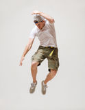 Ballerino maschio che salta nell'aria Fotografia Stock Libera da Diritti