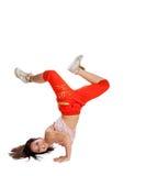 Ballerino moderno di stile su fondo isolato Immagini Stock Libere da Diritti