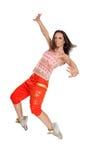 Ballerino moderno di stile su fondo isolato Fotografie Stock Libere da Diritti