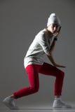 Ballerino moderno maschio di stile fotografie stock libere da diritti