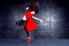 Ballerino nel moto Fotografie Stock