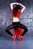 Ballerino nel moto Fotografia Stock Libera da Diritti