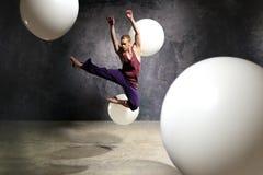 Ballerino nel salto Fotografia Stock
