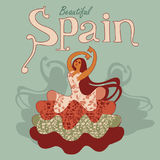 Ballerino spagnolo di flamenco Fotografia Stock
