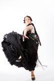 Ballerino spagnolo femminile di flamenco Immagine Stock