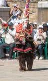 Ballerino sul festival piega in Bulgaria Fotografia Stock Libera da Diritti