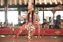 Ballerino tradizionale Art dell'Indonesia Jogjakarta Immagine Stock