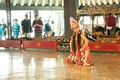 Ballerino tradizionale dell'Indonesia Jogjakarta Fotografia Stock Libera da Diritti