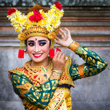Ballerino tradizionale di balinese Fotografie Stock