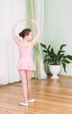 Ballerino in una classe di ballo Immagini Stock