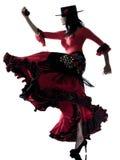 Ballerino zingaresco di dancing di flamenco della donna Immagini Stock Libere da Diritti