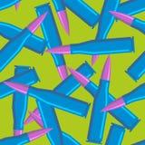 Balles colorées pour des hippies Texture militaire bleue de munitions Photographie stock libre de droits