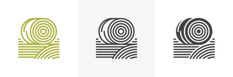 Balles d'icône de foin illustration de vecteur