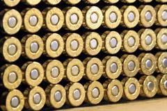 Balles de cuivre de munitions Image libre de droits