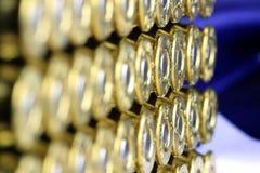 Balles de cuivre de munitions Photos stock