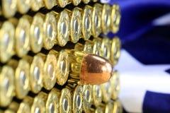 Balles de cuivre de munitions Image stock