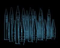 Balles de fusil Images libres de droits