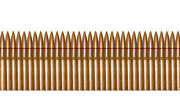 Balles de fusil dans une rangée Images stock