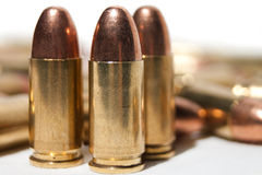 balles de 9mm Photo stock